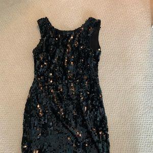 Aryn K Sequin Black Dress